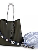 Damen Taschen Ganzjährig PU Bag Set 2 Stück Geldbörse Set Blumig Quaste für Veranstaltung / Fest Normal Formal Blasse Rosa Armeegrün