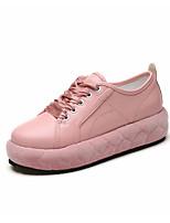 Women's Sneakers Walking Formal Shoes PU Fall Casual Dress   Flat Heel Blushing Pink White 1in-1 3/4in