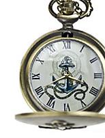 Men's Pocket Watch Quartz Water Resistant / Water Proof Alloy Band Bronze