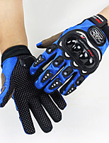 Men's Cotton Polyester Wrist Length Fingertips Windproof Keep Warm High Quality Fashion Outdoor Sports Patchwork Autumn/Fall Winter Black/Blue/Red