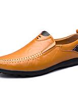 Недорогие -Муж. обувь Дерматин Кожа Весна Лето Удобная обувь Мокасины и Свитер Животные принты для Повседневные Черный Желтый Коричневый