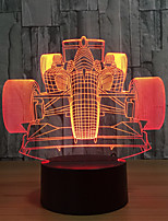 Novelty Lampada Racing Car Table Lamp 3D Colorful Touch Usb Led Night Light