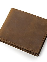 Men Money Clip Cowhide All Seasons Office/Career Shopping Daily Casual Party & Evening Rectangle N/A Dark Brown