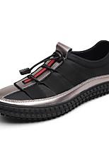 Men's Loafers & Slip-Ons Comfort Fall Winter Leatherette Casual Split Joint Flat Heel Gray Black Flat