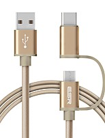 USB 2.0 Câble, USB 2.0 to USB 2.0 Type C Micro USB 2.0 Câble Male - Male 1.0m (3ft)
