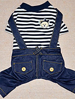 Dog Clothes/Jumpsuit Dog Clothes Casual/Daily Stripe Blue