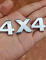 Automotive Logo Metal Car Stickers Digital Letter for Metal