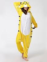 Kigurumi Pajamas Tiger Festival/Holiday Animal Sleepwear Halloween Fashion Embroidered Flannel Fabric Cosplay Costumes Kigurumi For