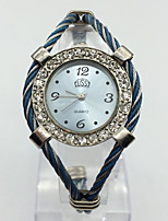 Women's Fashion Watch Wrist watch Chinese Quartz Metal Band Bangle Casual Blue Pink