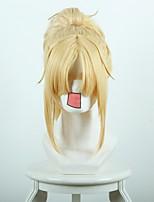destino apocrypha vermelho sabre amarelo cosplay perucas sintéticas com rabo de cavalo
