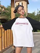 T-shirt Da donna Per uscire Semplice Alfabetico Rotonda Cotone Mezza manica