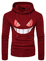 Men's Going out Casual/Daily Simple Hoodie Solid Hooded Micro-elastic Cotton Long Sleeve Fall Winter