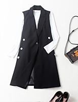 EWUS/Women's Work Street chic Fall T-shirt Skirt SuitsSolid Peter Pan Collar Long Sleeve Micro-elastic