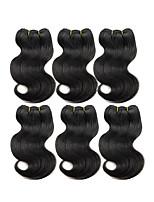 Natural Color Hair Weaves Brazilian Texture Body Wave 6 Months Six-piece Suit hair weaves