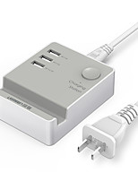 USB Charger 3 Ports Desk Charger Station With Switch(es) Stand Dock Universal Charging Adapter