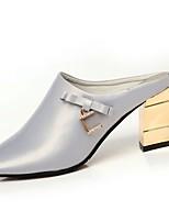 Da donna Pantofole e infradito Suole leggere Primavera PU (Poliuretano) Casual Cristalli Heel di blocco Nero Argento Rosso 5 - 7 cm