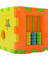Cute 10pcs Shape Plug Box Small Hand Cerebellum Moving Cognitive Block Toy