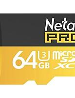 Netac 64g uhs-i u3 scheda di memoria del telefono mobile tf (micro-sd) scheda di memoria della fotocamera di monitoraggio della carta