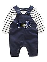 Boys' Stripe Sets,Cotton Spandex Spring Fall Clothing Set