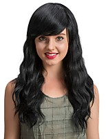 Stylish And Exquisite Black Long Human Hair Wigs  For  Women