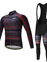 Maillot de Ciclismo con Mallas Bib Hombre Manga Larga Bicicleta Pantalones/Sobrepantalón Camiseta/Maillot Medias/Mallas Largas