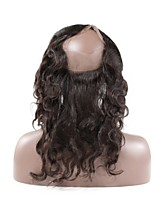 La chiusura frontale del merletto 360 borda capelli remy naturale del corpo brasiliano del corpo con capelli del bambino 100% capelli