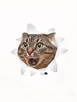 Wall Stickers Wall Decals Fright Cat Toilet Decoration PVC Wall Stickers