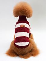 Hund Weste Hundekleidung Lässig/Alltäglich Streifen Dunkelblau Grau Rose