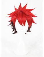 Parrucche sintetiche Senza tappo Pantaloncini Lisci Rosso Parrucca Faux Locs Parrucca Cosplay costumi parrucche