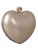 Donna Sacchetti Per tutte le stagioni Similpelle Borsa da sera Con diamantini Dettagli con perline Catene in metallo per Matrimonio