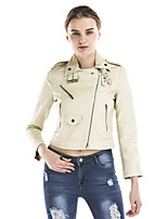 Maxlindy Women's Sexy Holiday Going out Casual/Daily Vintage Street chic Sophisticated Winter Leather Jacket