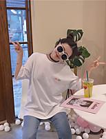 Tee-shirt Femme,Couleur Pleine Sports Sexy Manches Courtes Col en V Coton