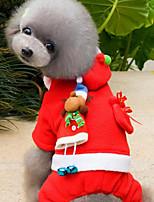 Hund Overall Hundekleidung Party Weihnachten Weihnachten Rot