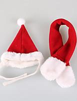Gatto Cane Bandane e berretti Abbigliamento per cani Da serata Casual Cosplay Sportivo Natale Tinta unita Rosso