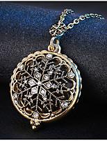 Per donna Collane con ciondolo Rotondo Con fiocco di neve Lega Vintage Metallico Gioielli Per Matrimonio Feste Compleanno Quotidiano