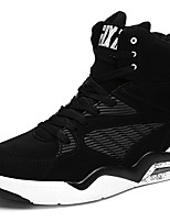 Men's Sneakers Comfort Fall Winter Synthetic Microfiber PU Basketball Shoes Athletic Casual Office & Career Blue Black Under 1in