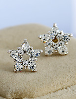 Women's Stud Earrings Basic Hypoallergenic Simple Style Classic Rhinestone Alloy Jewelry For Gift Daily Casual Date