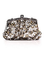 Women Bags All Seasons Polyester Evening Bag Rhinestone Crystal for Wedding Event/Party Formal Gray
