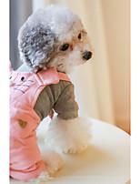 Hund Overall Hundekleidung Lässig/Alltäglich Britisch Orange Rosa