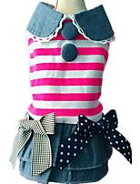 Dog Dress Dog Clothes Casual/Daily British Black Blushing Pink