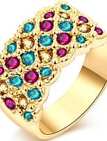 Dame Båndringe Rhinsten Enkelt design Personaliseret Sød Stil Gotisk luksus smykker Klassisk Elegant Mode Legering Geometrisk form Smykker