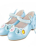 Fille Ballerines Confort Nouveauté Chaussures de Demoiselle d'Honneur Fille Automne Hiver Similicuir Décontracté Habillé Cristal Talon