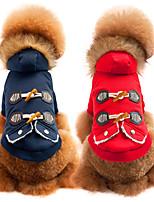 Cane Cappottini Abbigliamento per cani Casual Di tendenza Tinta unita Rosso Blu