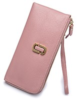 Women Checkbook Wallet Cowhide All Seasons Wedding Office/Career Event/Party Shopping Daily Casual Formal Party & Evening Office & Career