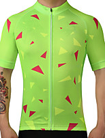 FUALRNY® Cycling Jersey Men's Short Sleeves Bike Jersey Quick Dry Breathability 100% Polyester Summer Mountain Cycling Road Cycling
