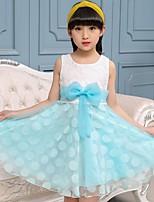 Girl's Casual/Daily Jacquard Dress,Cotton Acrylic Spandex Summer Fall Sleeveless