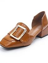 Da donna Tacchi Suole leggere Estate PU (Poliuretano) Casual Formale Heel di blocco Nero Beige Cammello 5 - 7 cm