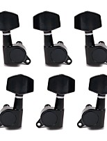 Black Sealed Guitar Tuning Pegs 3R 3L Tuner Machine Head for Electric/Acoustic Guitar High Quality Guitar Parts & Accessories