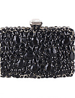 Women Bags All Seasons Polyester Evening Bag Crystal Sparkling Glitter for Wedding Event/Party Formal Black Silver