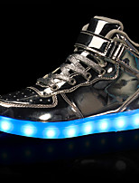 Boys' Sneakers Light Up Shoes Comfort Synthetic Microfiber PU Fall Winter Casual Outdoor Party & Evening Hook & Loop Lace-up Flat Heel